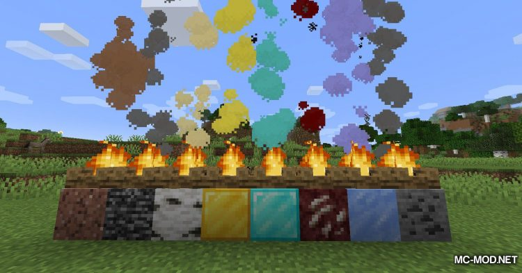 Colorful Campfire Smoke mod for Minecraft (10)