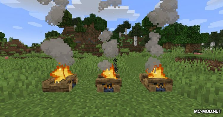 Colorful Campfire Smoke mod for Minecraft (3)
