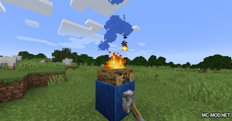 Colorful Campfire Smoke mod for Minecraft (5)