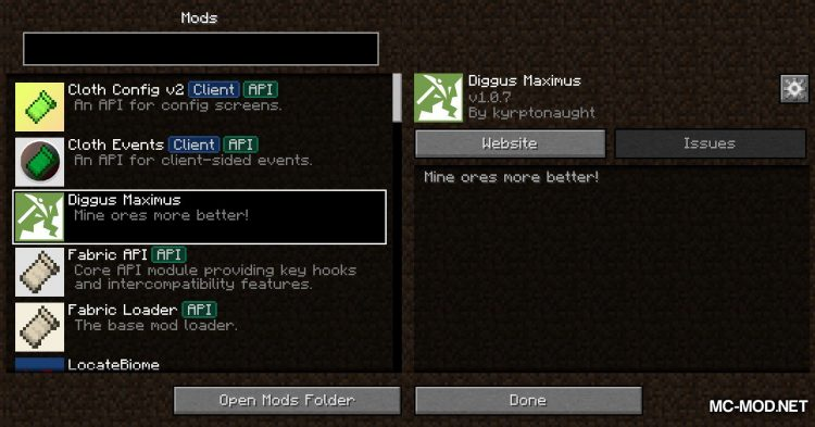 Diggus Maximus mod for Minecraft (1)