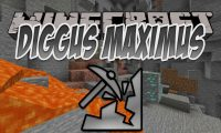 Diggus Maximus mod for Minecraft logo