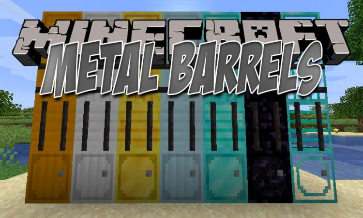 Metal Barrels mod for Minecraft logo
