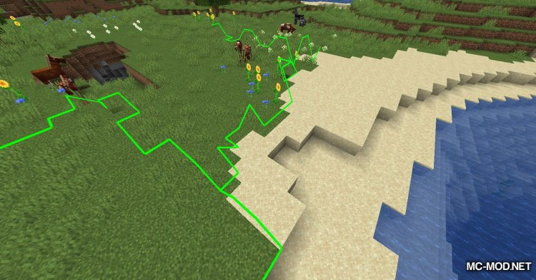 Biome Border Viewer mod for Minecraft (3)