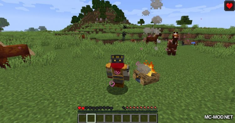 Healing Campfire mod for Minecraft (6)
