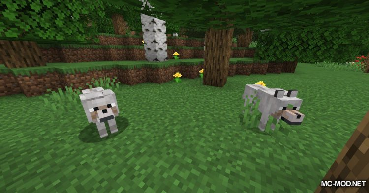 Pet Your Wolf mod for Minecraft (1)