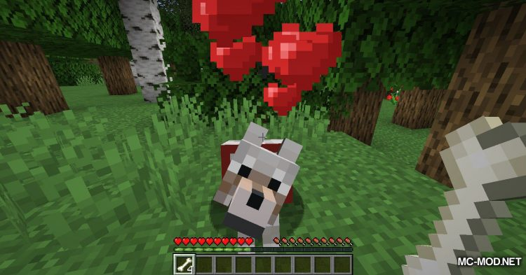 Pet Your Wolf mod for Minecraft (3)