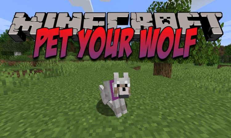 Pet Your Wolf mod for Minecraft logo