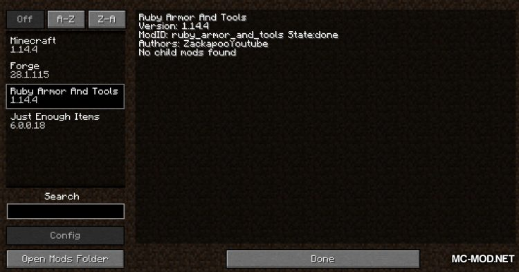 Ruby Armor And Tools mod for Minecraft (1)