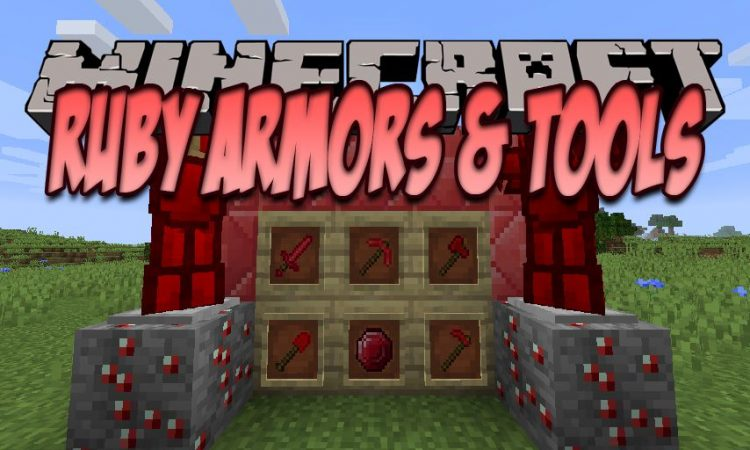 Ruby Armor And Tools mod for Minecraft logo
