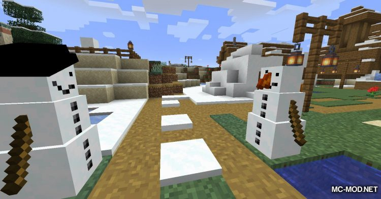 Simply Snowman mod for Minecraft (10)