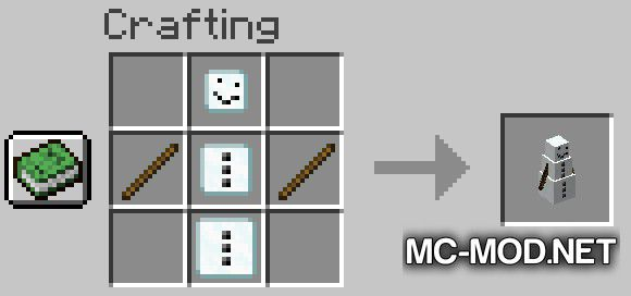 Simply Snowman mod for Minecraft (5)