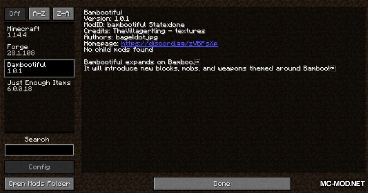 Bambootiful mod for Minecraft (1)