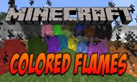 Colored Flames mod for Minecraft logo