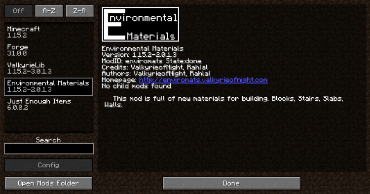 Environmental Materials mod for Minecraft (1)