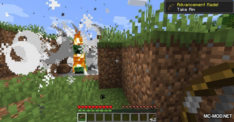 Flaming Arrows mod for Minecraft (7)