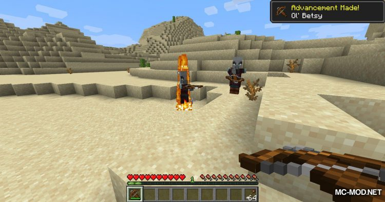 Flaming Arrows mod for Minecraft (9)