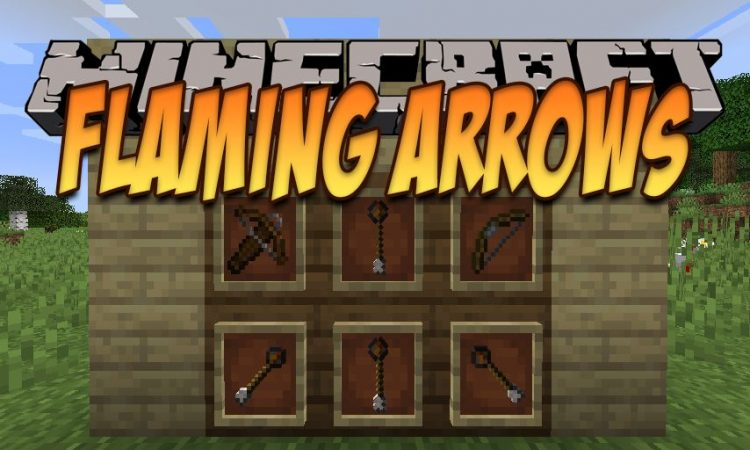 Flaming Arrows mod for Minecraft logo