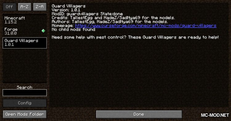 Guard Villagers mod for Minecraft (1)