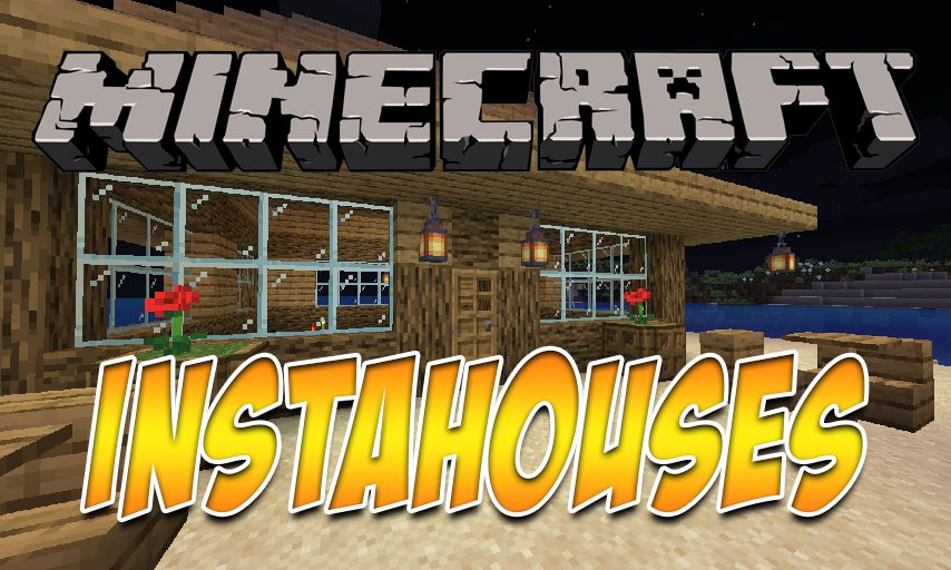 InstaHouses mod for Minecraft logo