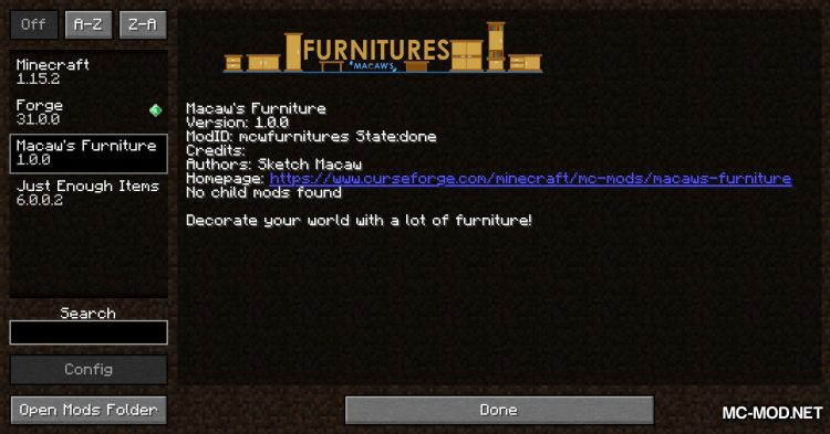 Macaw_s Furniture mod for Minecraft (1)