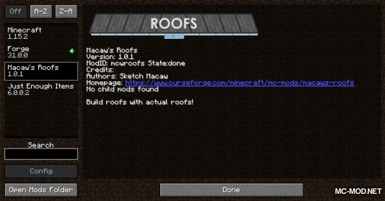 Macaw_s Roofs mod for Minecraft (1)