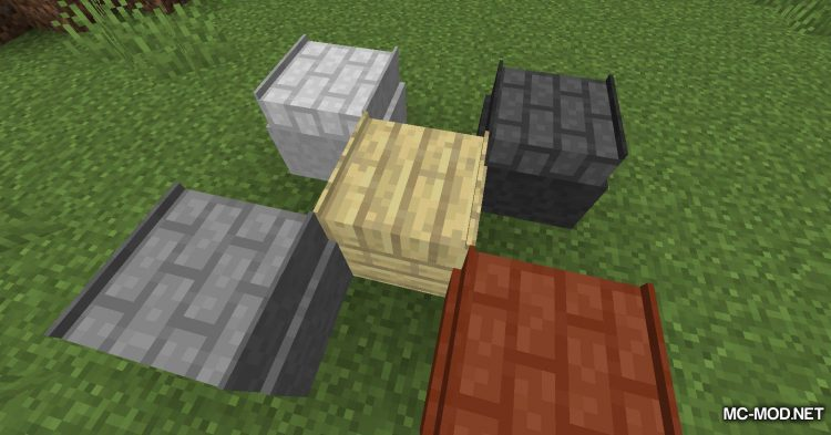 Macaw_s Roofs mod for Minecraft (8)