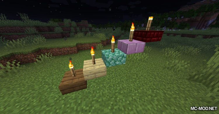 Torch Slabs Mod mod for Minecraft (5)