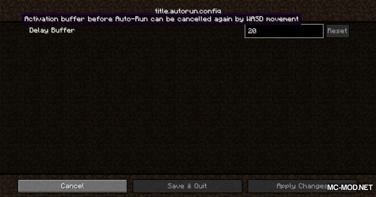 Auto-Run mod for Minecraft (2)