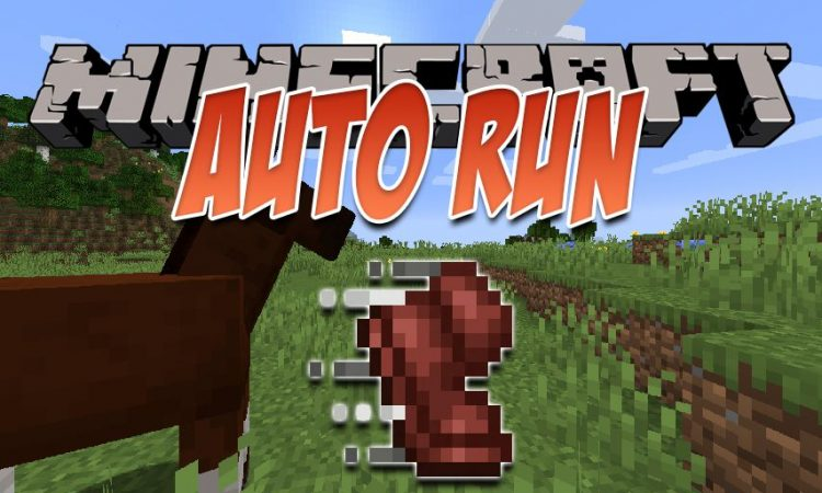 Auto-Run mod for Minecraft logo