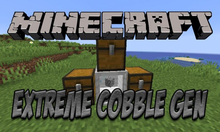 Extreme Cobble Generator mod for Minecraft logo