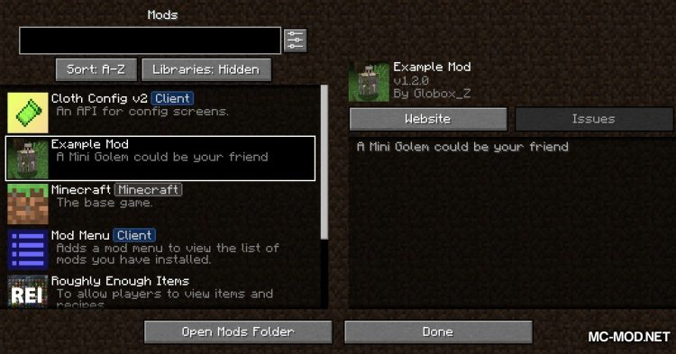 GolemZ mod for Minecraft (1)