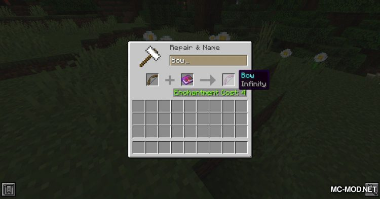 Infinity Works With All Arrows mod for Minecraft (1)