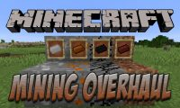 Mining Overhaul mod for Minecraft logo