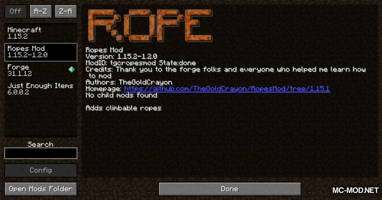 Ropes Mod mod for Minecraft (1)