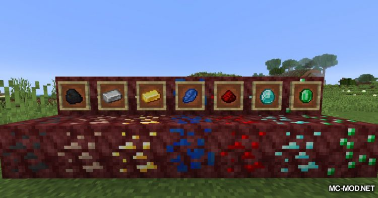 Basic Nether Ores mod for Minecraft (12)