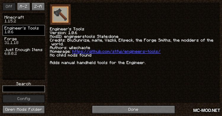Engineer_s Tools mod for Minecraft (1)