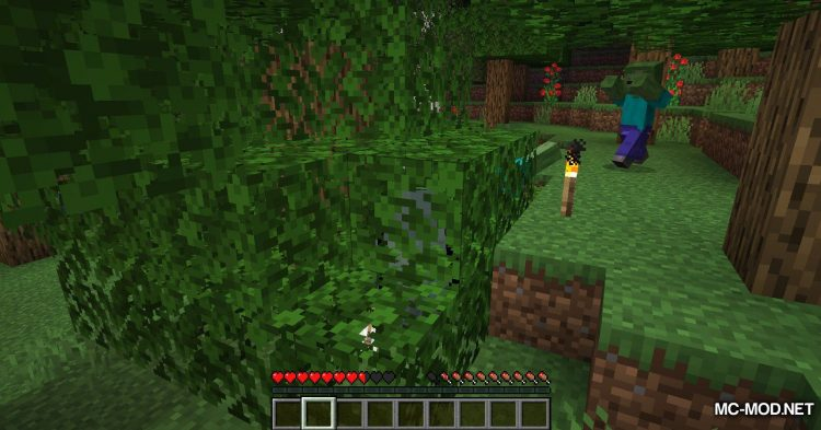 Fabric Passable Leaves mod for Minecraft (10)