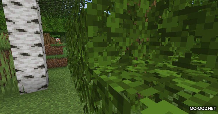 Fabric Passable Leaves mod for Minecraft (4)