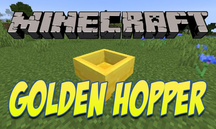 Golden Hopper mod for Minecraft logo