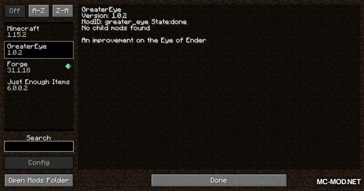 Greater Eye of Ender mod for Minecraft (1)