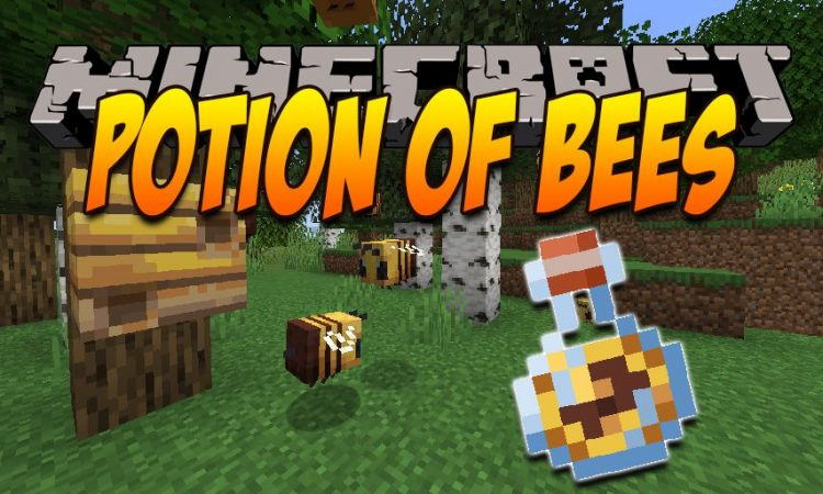 Potion of Bees mod for Minecraft logo