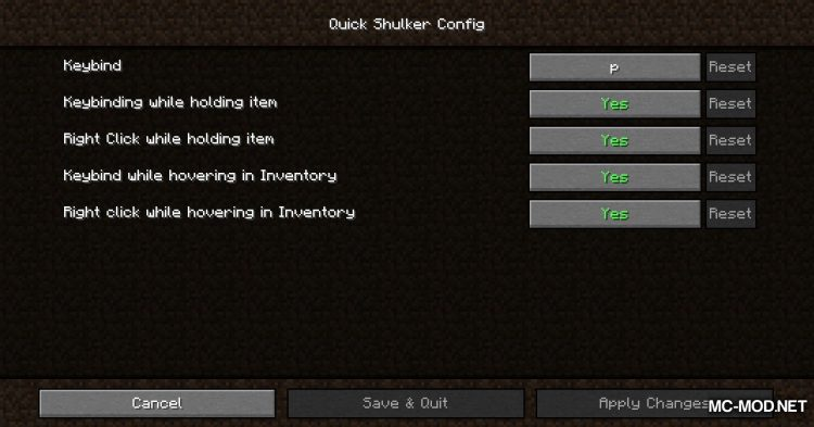 Quick Shulker mod for Minecraft (2)