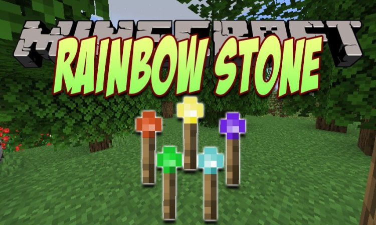 Rainbow Stone mod for Minecraft logo