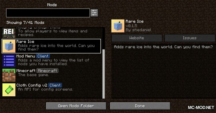 Rare Ice mod for Minecraft (1)