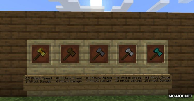 SuperAxes mod for Minecraft (13)