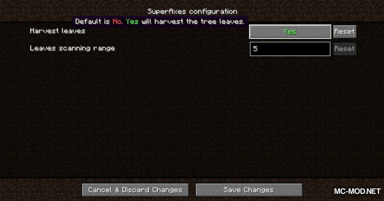 SuperAxes mod for Minecraft (6)