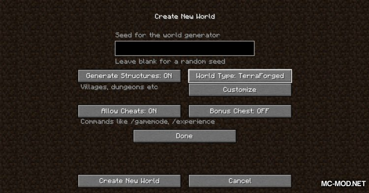 TerraForged mod for Minecraft (1)