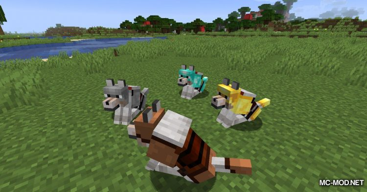 Wolves With Armor mod for Minecraft (13)