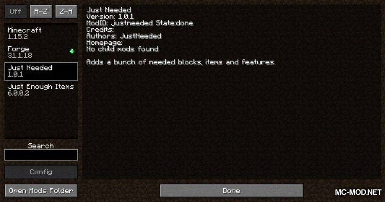 Just Needed mod for Minecraft (1)