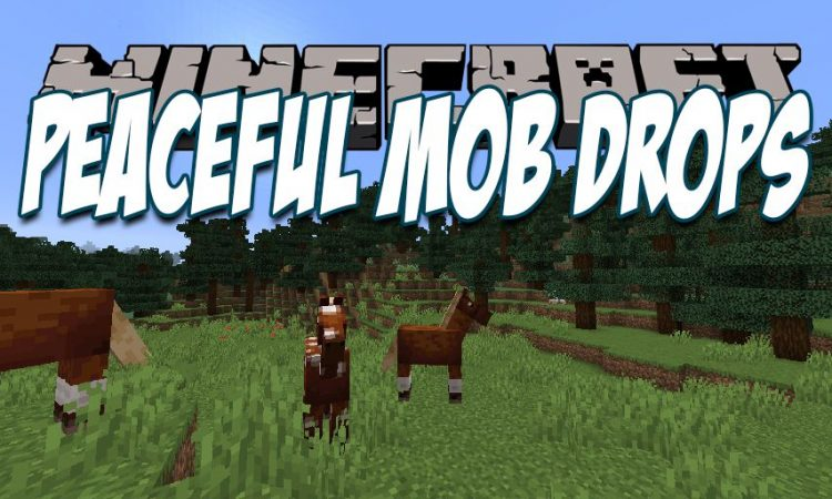 Peaceful Mob Drops mod for Minecraft logo